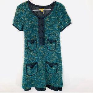Lulumari tweed shift dress size medium